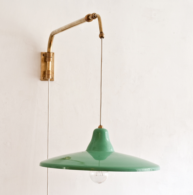 Italian extendable swing arm wall lamp 1950   trouvé Berlin