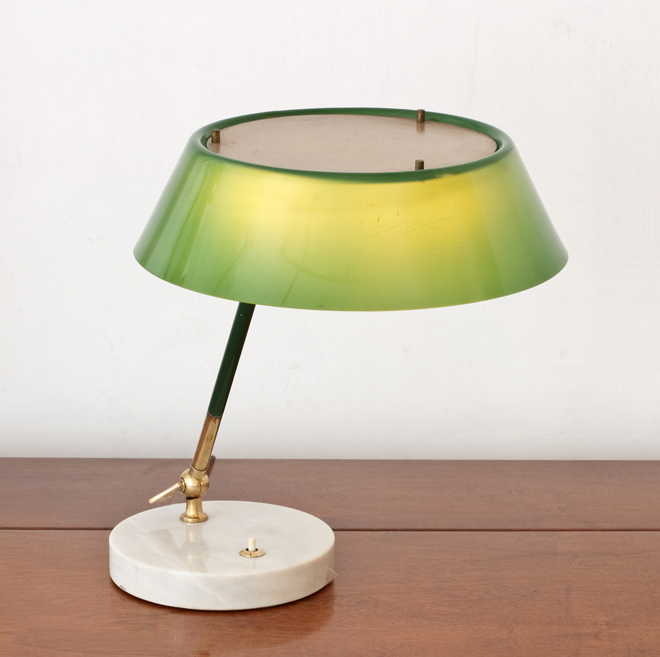 Stilux Table Lamp Perspex Brass Shade 1950 Trouve Berlin