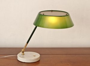 Stilux-table-lamp-perspex-brass-shade-1950