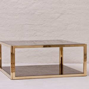 Italian-Brass-and-smoked-glass-coffee-table-1970