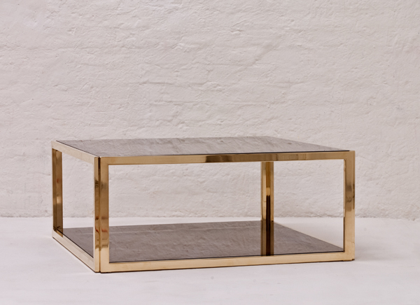 Italian Brass And Glass Coffee Table 1970 Trouve Berlin