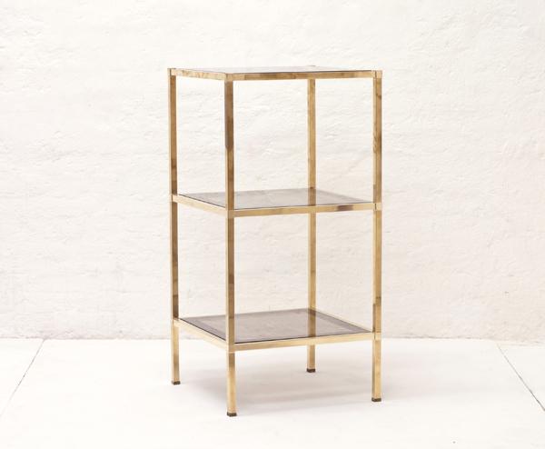 Italian-freestanding-brass-and-smoked-glass-shelf-1970
