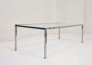 Italian-coffee-table-with-thick-glass-top-1970