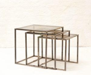 Italian-bicolor-nesting-table-1970