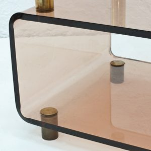 Italian-perspex-shelf-with-brass-1970