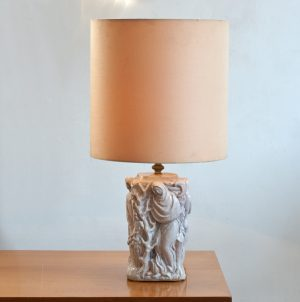 Italian-ceramic-4seasons-table-lamp-1940-1950